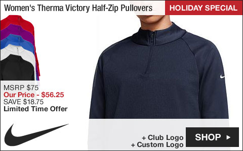 Nike Women's Therma Victory Half-Zip Golf Pullovers - HOLIDAY SPECIAL