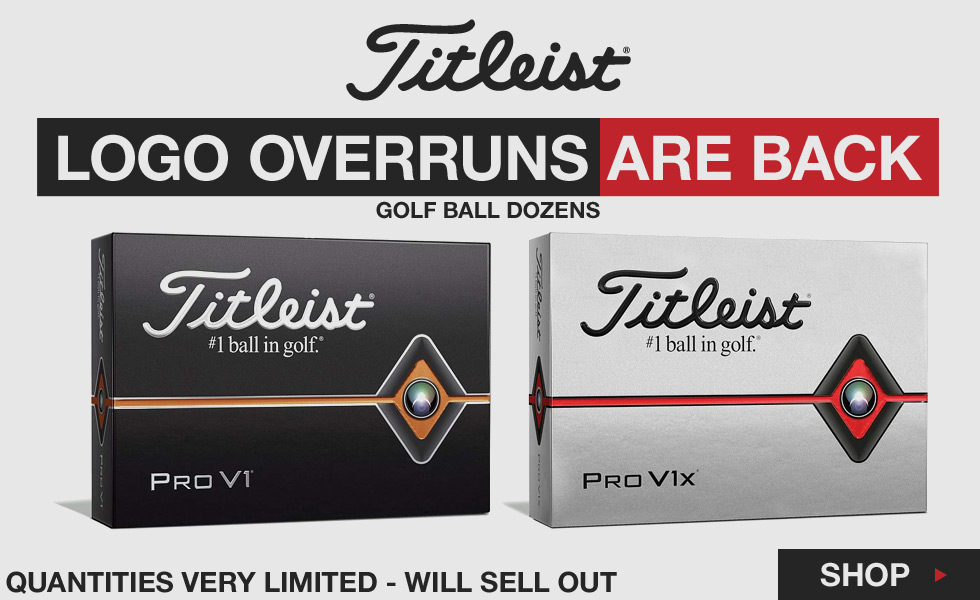 Titleist ProV1 and ProV1X Logo Overrun Golf Balls Are Back