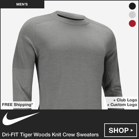 Nike Dri-FIT Tiger Woods Knit Crew Golf Sweaters