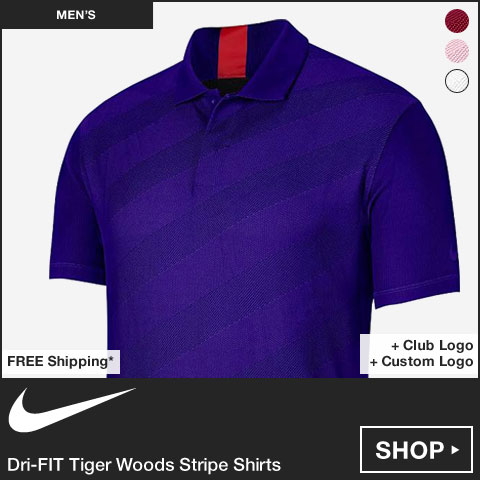 Nike Dri-FIT Tiger Woods Stripe Golf Shirts
