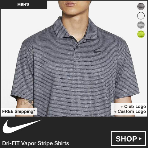 Nike Dri-FIT Vapor Stripe Golf Shirts