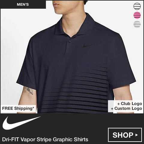 Nike Dri-FIT Vapor Stripe Graphic Golf Shirts