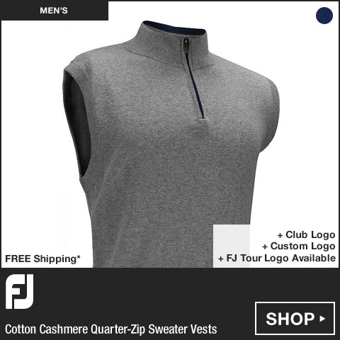FJ Cotton Cashmere Quarter-Zip Sweater Golf Vests - FJ Tour Logo Available