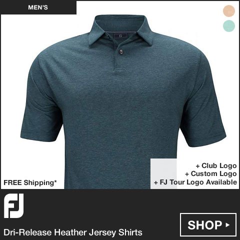 FJ Dri-Release Heather Jersey Golf Shirts - FJ Tour Logo Available