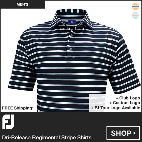 FJ Dri-Release Regimental Stripe Golf Shirts - FJ Tour Logo Available