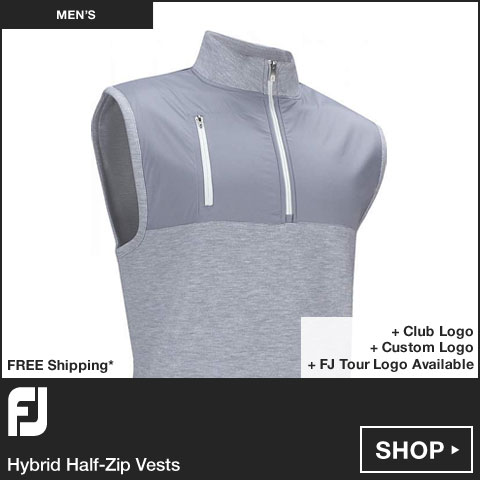 FJ Hybrid Half-Zip Golf Vests - FJ Tour Logo Available