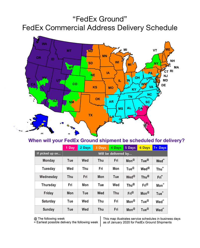FedEx Commercial Map
