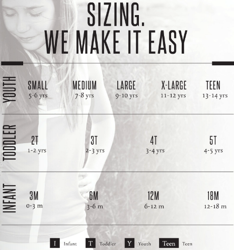 Garb Size Guide