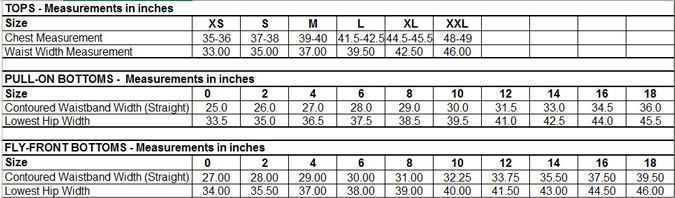 Jamie Sadock Women S Apparel Size Guide
