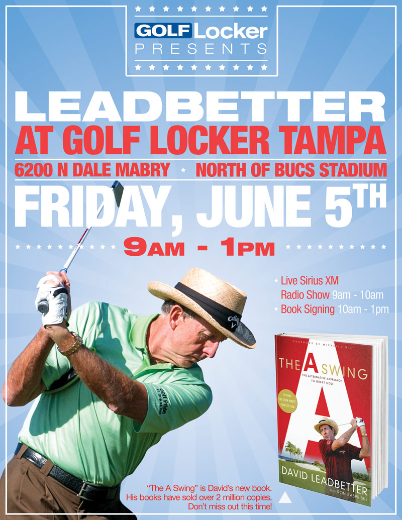 David Leadbetter at Golf Locker Tampa June 5th, 2015