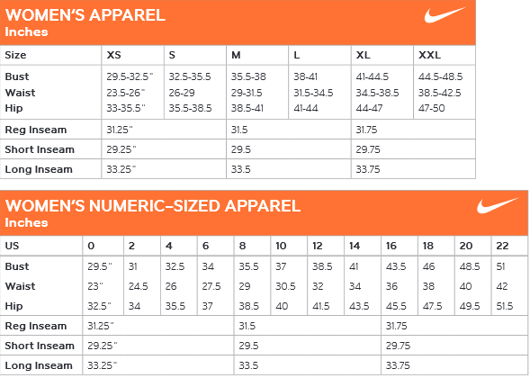 Nike women s apparel