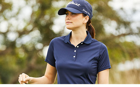 Custom Logo Women's Short Sleeve Golf Shirts