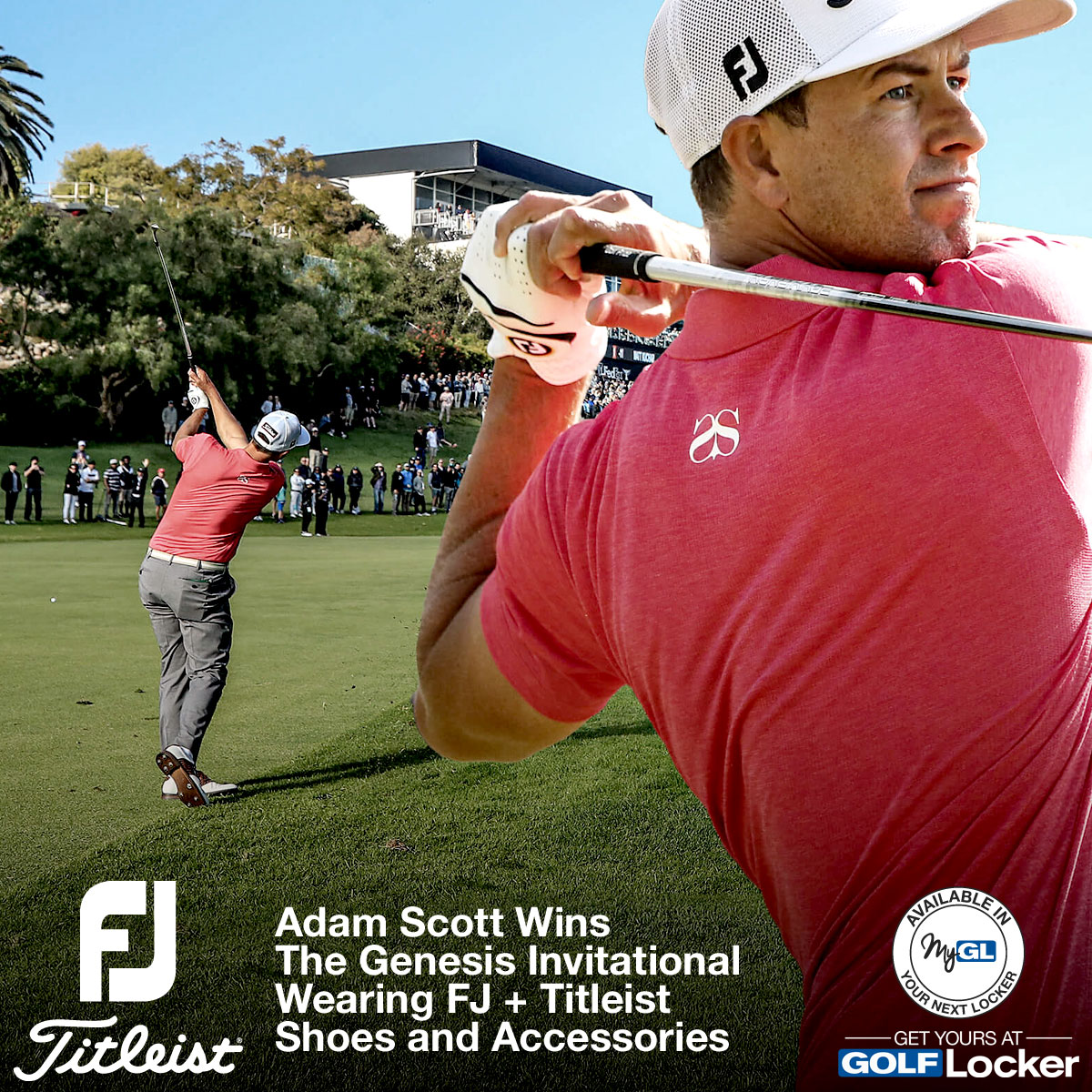 Adam Scott Wins the Genesis Invitational Wearing FJ and Titleist Shoes and Accessories