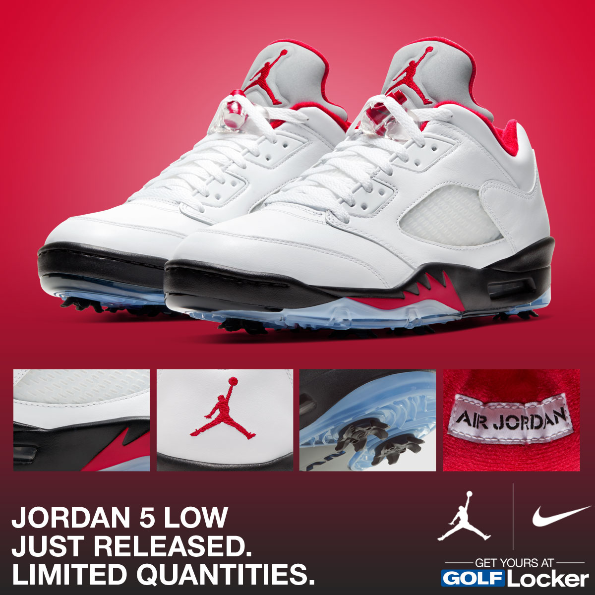 SOLD OUT - Nike Jordan 5 Low Golf Shoes