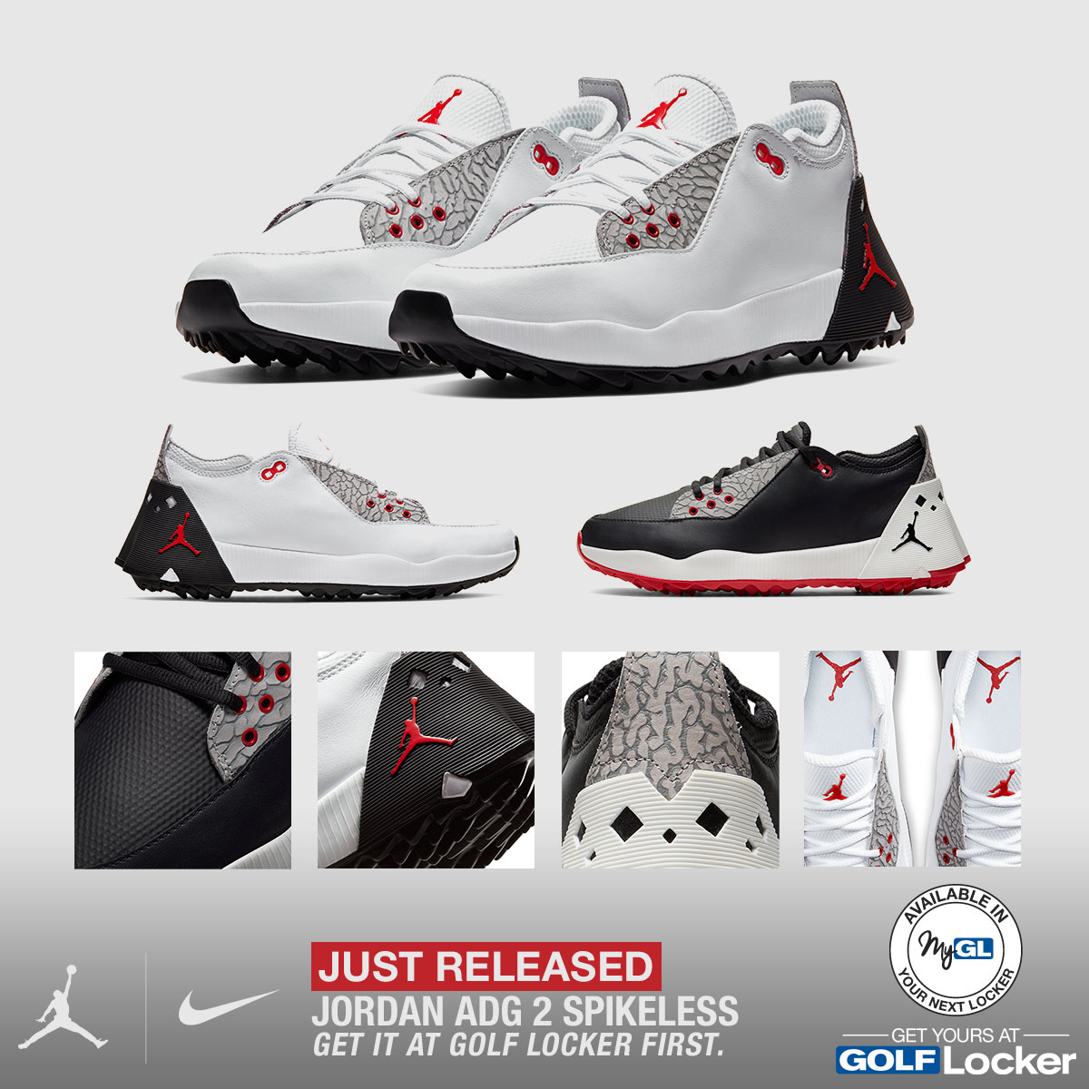 Nike Jordan ADG 2 Spikeless Golf Shoes - Just Released
