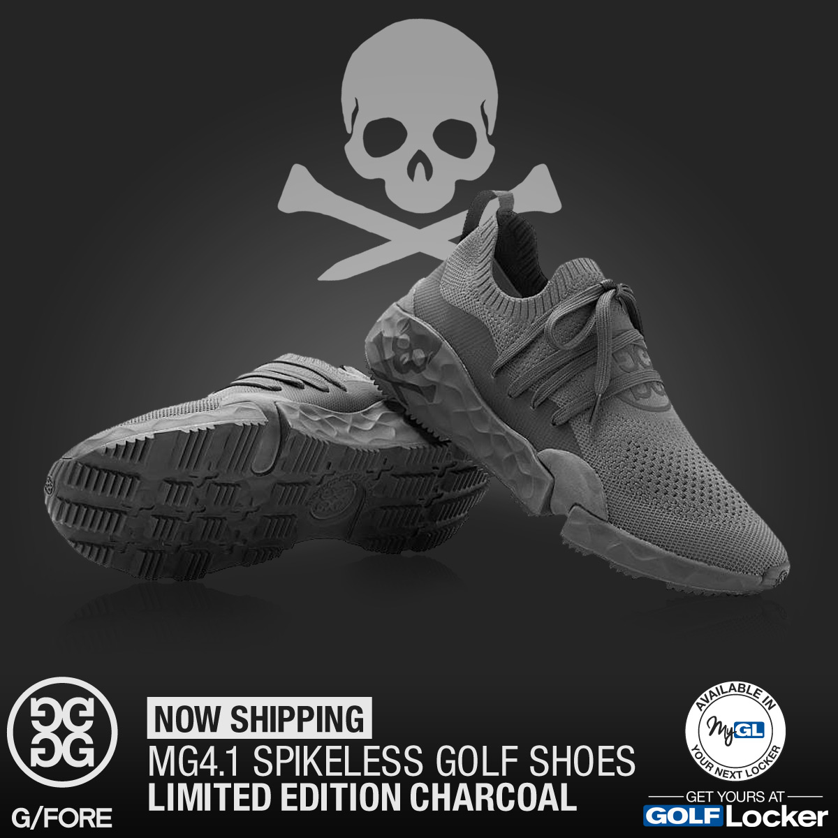 G/FORE MG4.1 Spikeless Golf Shoes - Limited Edition Charcoal