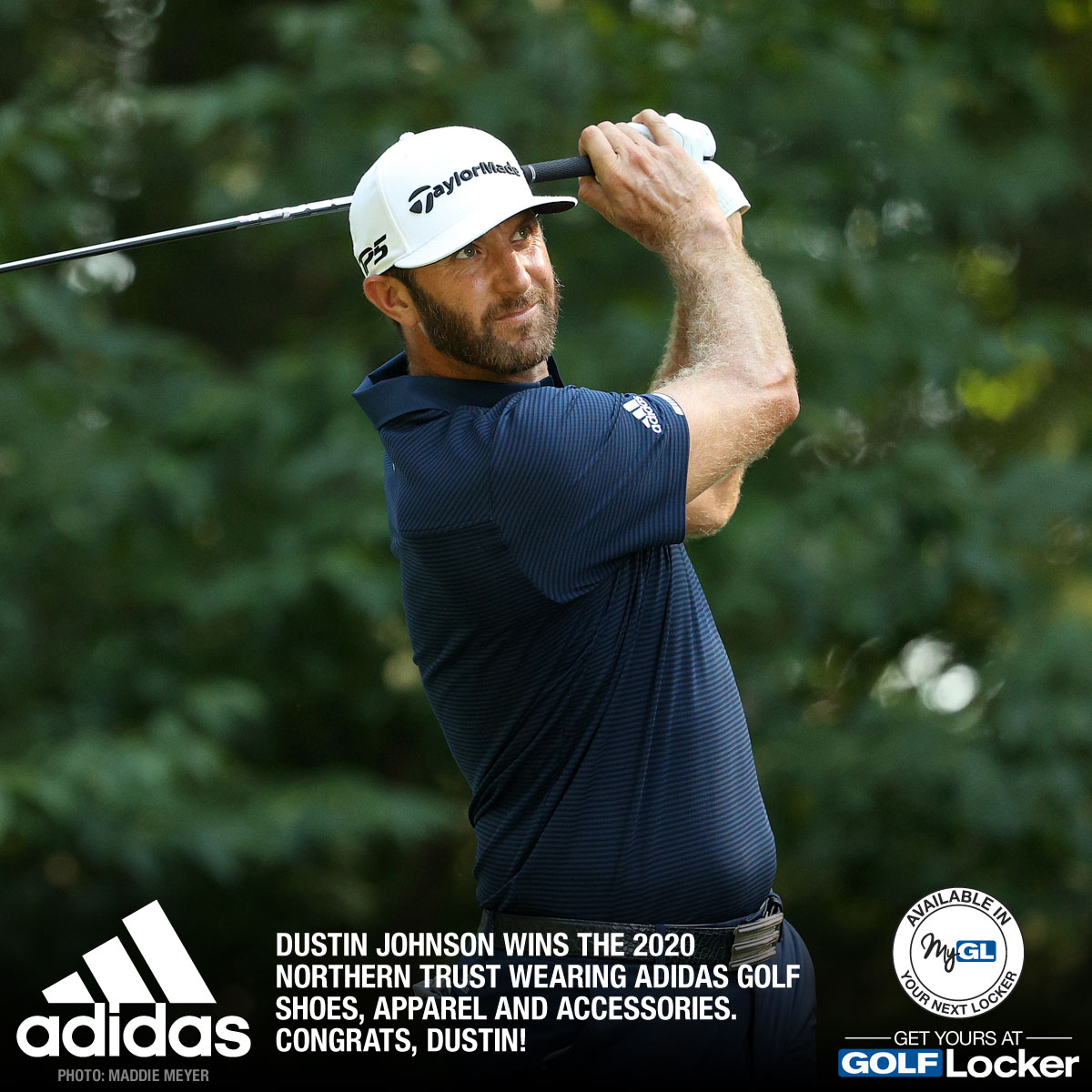 Dustin Johnson wins the 2020 Northern Trust wearing adidas Golf shoes, apparel and accessories. Congrats, Dustin!