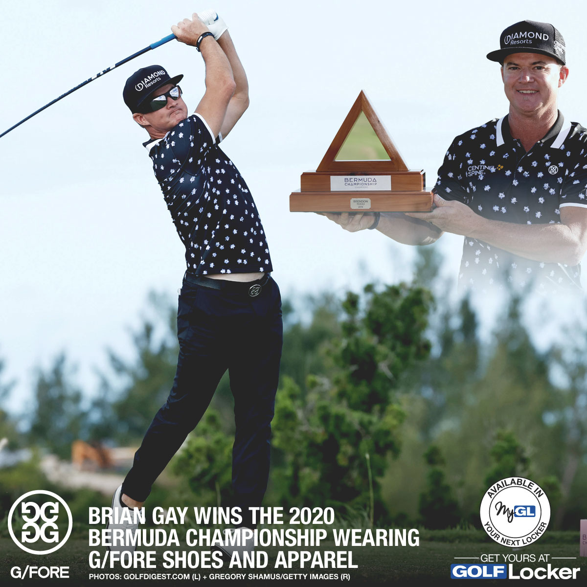 Brian Gay Wins Bermuda Championship Wearing G/FORE Gear