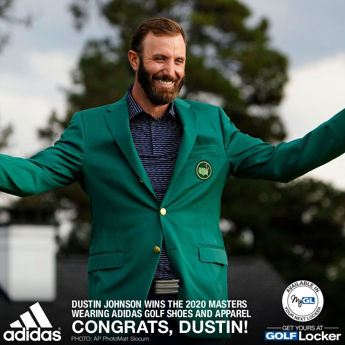 Dustin Johnson Wins the 2020 Masters Wearing Adidas Golf Shoes and Apparel