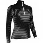 FootJoy Women's Stripe with Solid Yoke Half-Zip Golf Pullovers - FJ Tour Logo Available - Previous Season Style