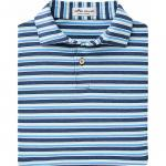 Peter Millar Center Stripe Stretch Jersey Junior Golf Shirts