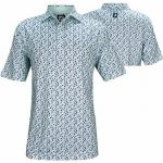 FootJoy ProDry Lisle Flower Print Golf Shirts - FJ Tour Logo Available - Previous Season Style