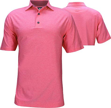 FootJoy ProDry Lisle Solid Golf Shirts with Self Fabric Collar - FJ Tour Logo Available - Previous Season Style