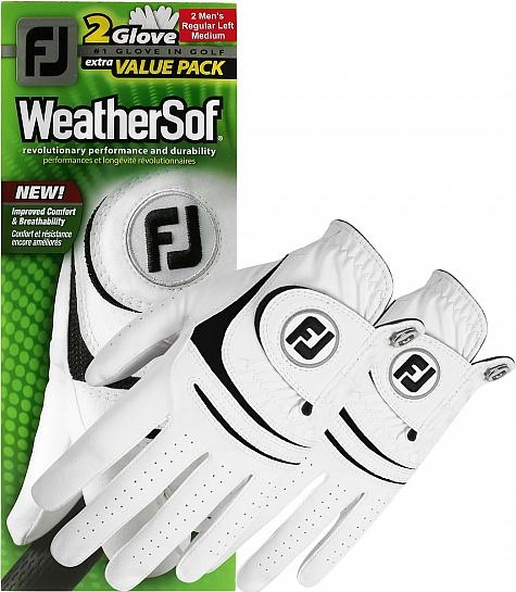 footjoy weathersof 2 pack golf gloves on sale