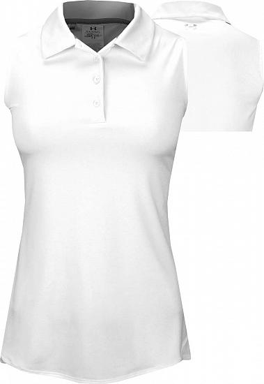 Under Armour Women's Leader Sleeveless Golf Shirts - ON SALE