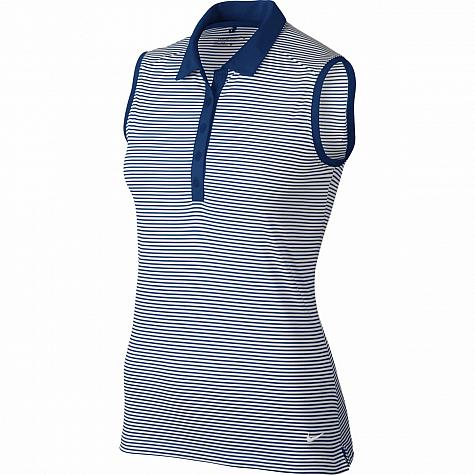 56177ba4 Nike Women's Dri-FIT Victory Stripe Sleeveless Golf Shirts - CLOSEOUTS
