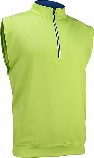 FootJoy Performance Half-Zip Jersey Pullover Golf Vests with Gathered Waist - Green - FJ Tour Logo Available - ON SALE