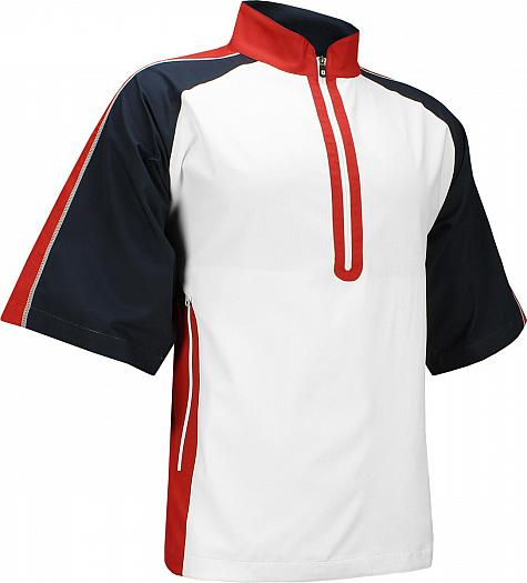 FootJoy Sport Short Sleeve Half-Zip Golf Windshirts - FJ Tour Logo Available - Previous Season Style