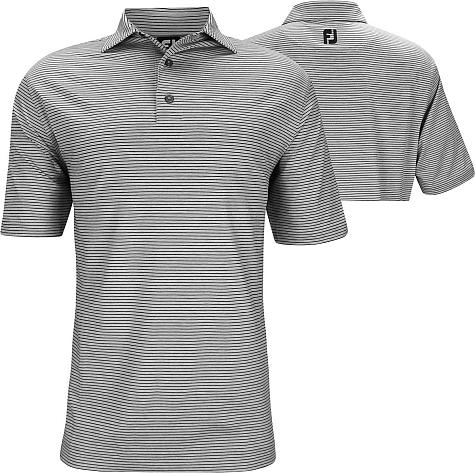 FootJoy ProDry Heather Pinstripe Lisle Golf Shirts - FJ Tour Logo Available