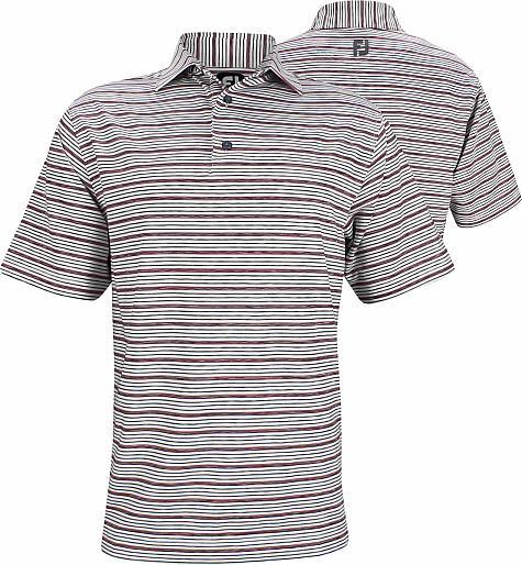 8668e573 FootJoy ProDry Lisle Space Dye Stripe Golf Shirts - Wheaton Collection - FJ  Tour Logo Available
