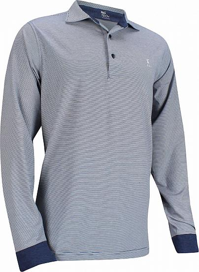 Fairway & Greene Parkway Stripe Long Sleeve Golf Shirts - ON SALE