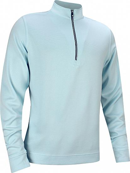 94b1c5f3f FootJoy Double Layer Knit Stripe Half-Zip Golf Pullovers - FJ Tour Logo  Available - Previous Season Style