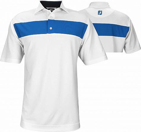 527c10985 FootJoy Smooth Pique Pieced Stripe Self Collar Golf Shirts - FJ Tour Logo  Available - Previous Season Style