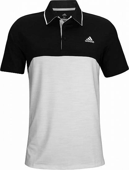 94024147c54 Adidas Ultimate Heather Blocked Golf Shirts - ON SALE