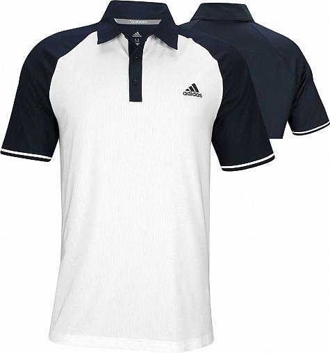 3fe4a640d Adidas ClimaCool Jacquard Raglan Golf Shirts - ON SALE