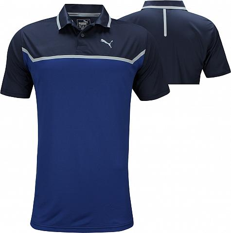 ea48f686 Puma DryCELL Bonded Tech Golf Shirts - Peacoat and Sodalite. undefined.  undefined. Enlarge