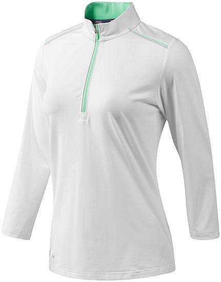 Adidas Women's Three-Quarter Sleeve Zip Golf Shirts - ON SALE