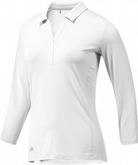 Adidas Women's Rangewear Three-Quarter Sleeve Golf Shirts - ON SALE