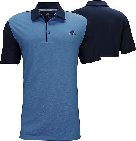 8397d7c7 Adidas Ultimate 365 Camo Embossed Golf Shirts - Collegiate Navy