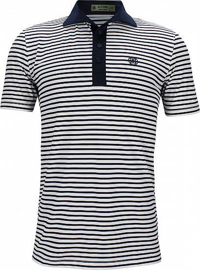 a4f07e8b G/Fore Perf Stripe Golf Shirts - Twilight Blue