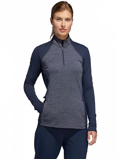 Adidas Women's Half-Zip Knit Golf Pullovers