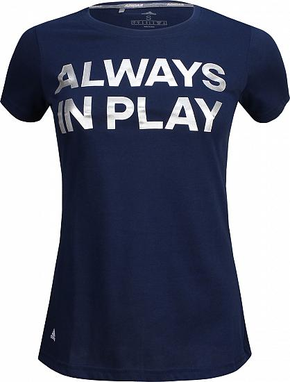 Adidas Women's Lightweight Graphic Golf T-Shirts - ON SALE