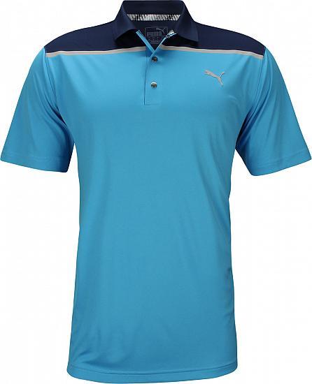 554ec463 Puma Bonded Colorblock Golf Shirts - Bleu Azur