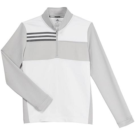 Adidas Color Blocked Layer Half-Zip Junior Golf Pullovers - ON SALE