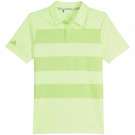 Adidas 3-Stripes Print Junior Golf Shirts - ON SALE
