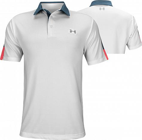 750b48eb3d6c0a Under Armour Playoff 2.0 Wedge Graphic Golf Shirts - White